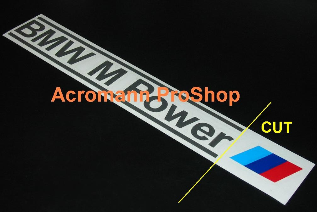 BMW M Power 6inch Decal (Style#1) x 2 pcs