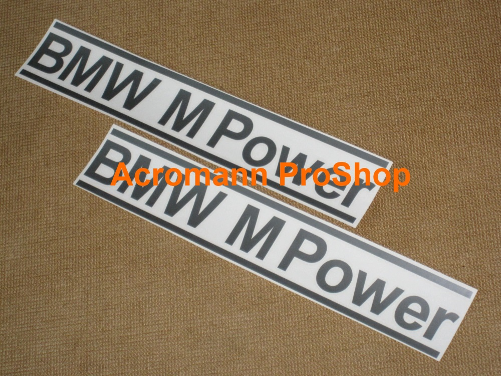 BMW M Power 6inch Decal (Style#2) x 2 pcs