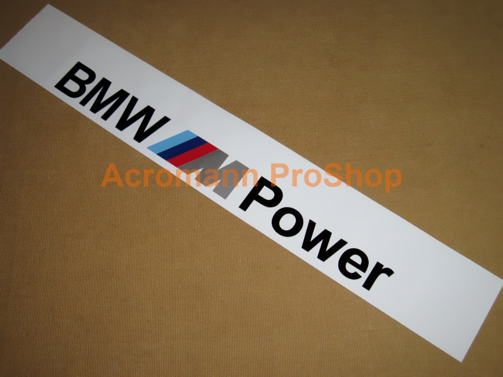 BMW M Power Windshield Decal (Style#2)