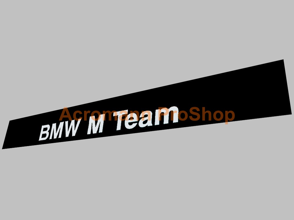 BMW M Team Windshield Decal (Style#1)