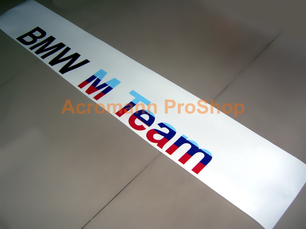 BMW M Team Windshield Decal (Style#2)
