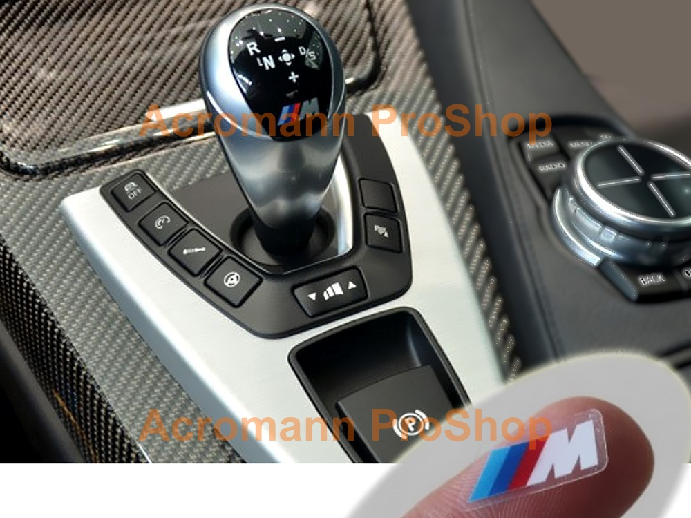 M (power) logo Gear Knob Printed Decal x 2 pcs