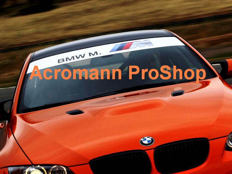 BMW M. M logo Windshield Decal (Style#2)