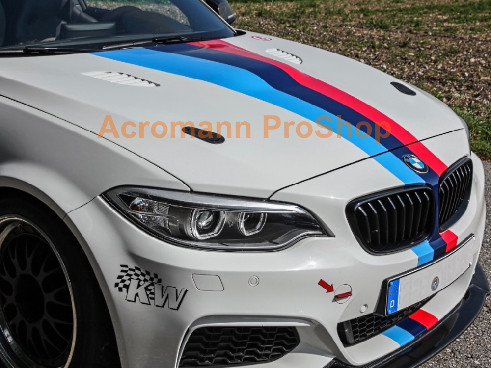 BMW F20 M Performance Bonnet Decal x 1 pc (middle)