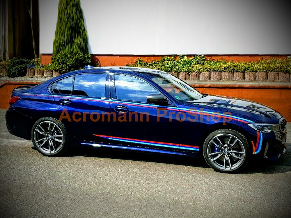 BMW G20 G21 M Performance Motorsport Side Stripes Decals Sticker