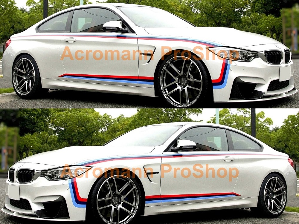 BMW F82 M Performance Side Stripe Decal (Style#4) x 1 pair