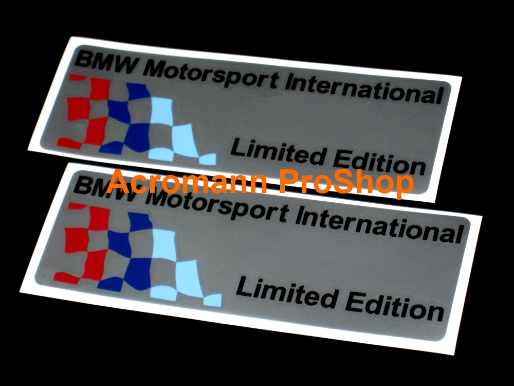BMW Motorsport Checkered Flag 6inch Decal (Style#5) x 2 pcs