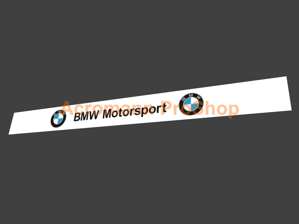 BMW Motorsport Helmet Visor decal (Style#3) x 2 pcs