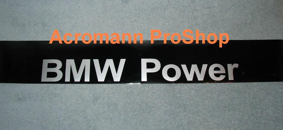 BMW Power Windshield Decal (Style#1)
