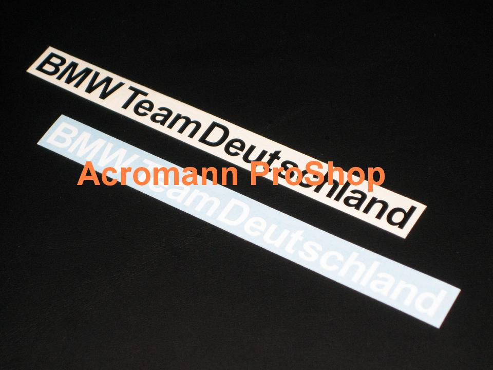 BMW Team Deutschland 6inch Decal x 2 pcs