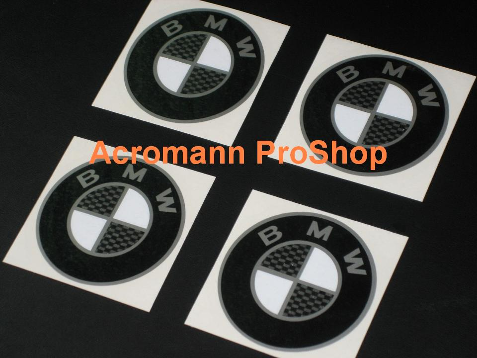 BMW 2.2inch Wheel Cap Decal (Style#3) x 4 pcs