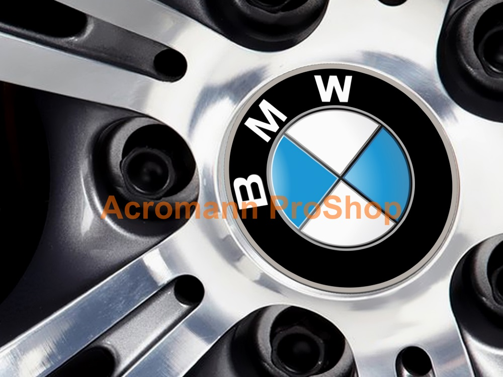 BMW Printed 2.2inch Wheel Cap Decal (Style B) x 4 pcs