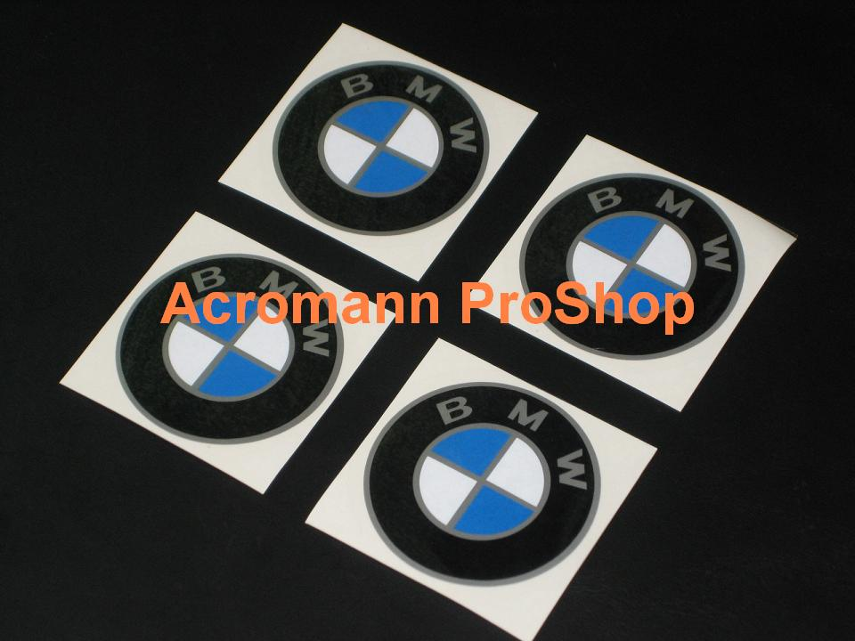 BMW 2.2inch Wheel Cap Decal (Style#1) x 4 pcs