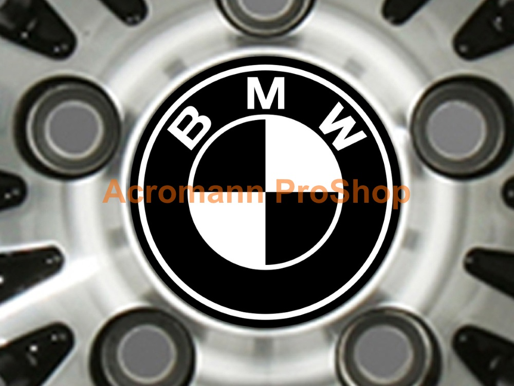 BMW Printed 2.2inch Wheel Cap Decal (Style A) x 4 pcs