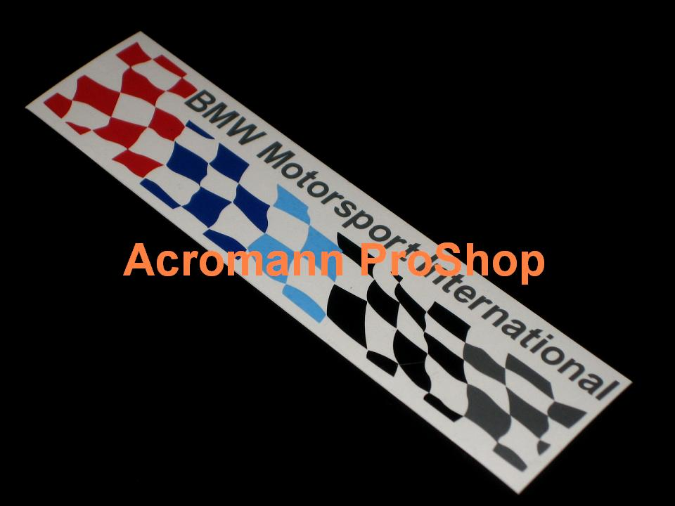 BMW Motorsport Checkered Flag 6inch Decal (Style#2) x 2 pcs