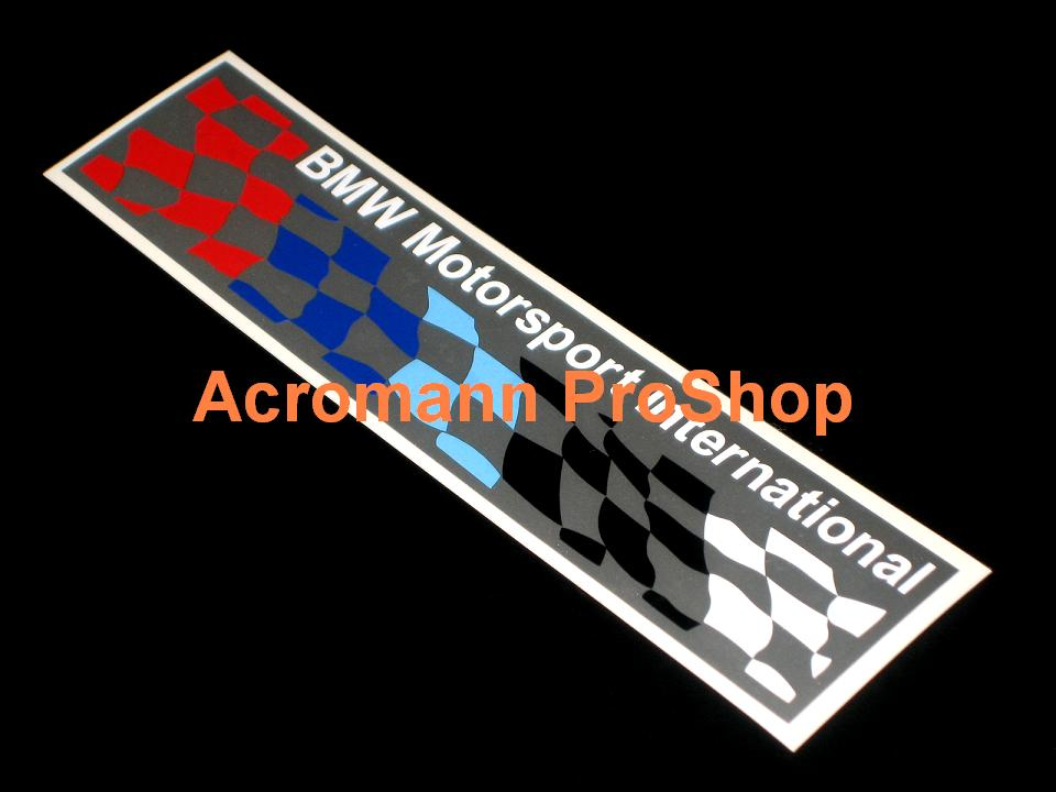 BMW Motorsport Checkered Flag 6inch Decal (Style#3) x 2 pcs