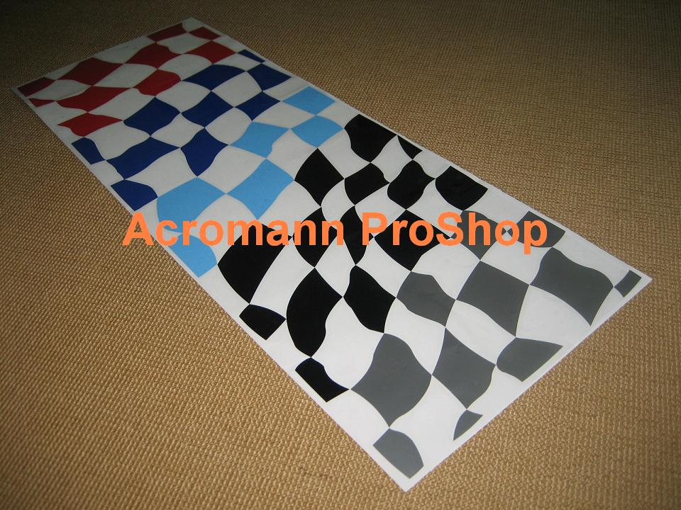 BMW Motorsport Checkered Flag Bonnet/Trunk Decal (Style#5) x 1pc