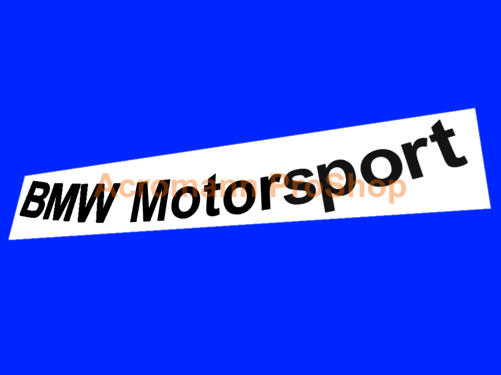 BMW Motorsport Windshield Decal (Style#3) - Curved