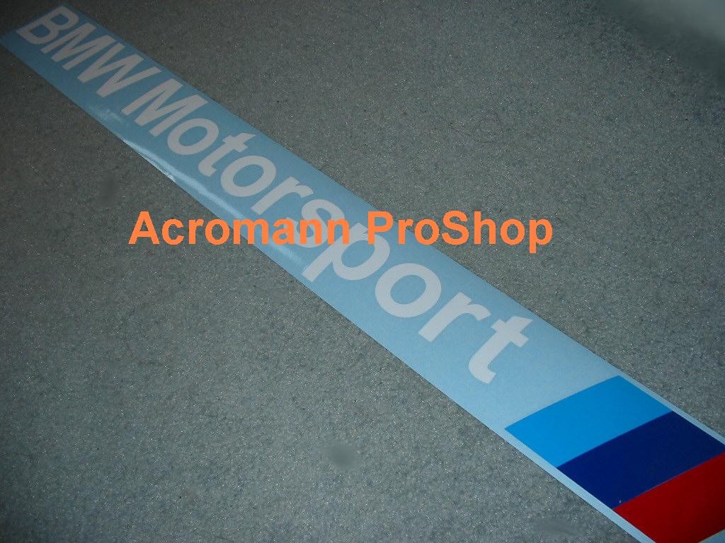 BMW Motorsport Windshield Decal (Style#2)