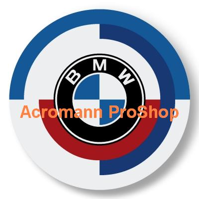 BMW Vintage 2.2inch Wheel Cap Decal x 4 pcs