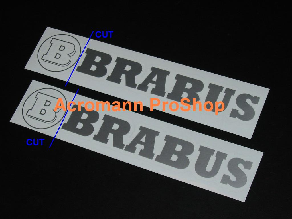 BRABUS 6inch Decal x 2 pcs