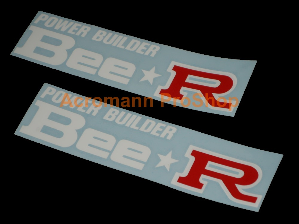 Bee R (Bee Racing) 6inch Decal (Style#1) x 2 pcs