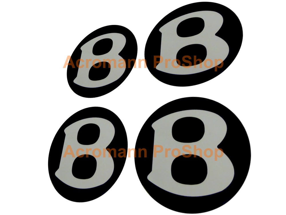 Bentley 2.2inch Wheel Cap Decal (Style#1) x 4 pcs