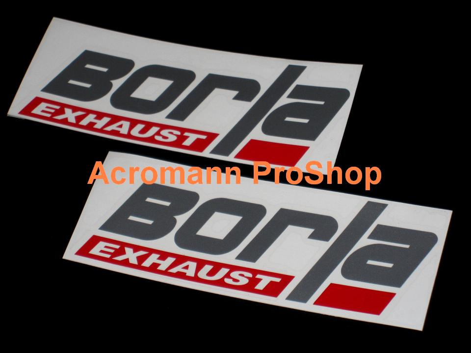 Borla Exhaust 6inch Decal (Style#1) x 2 pcs