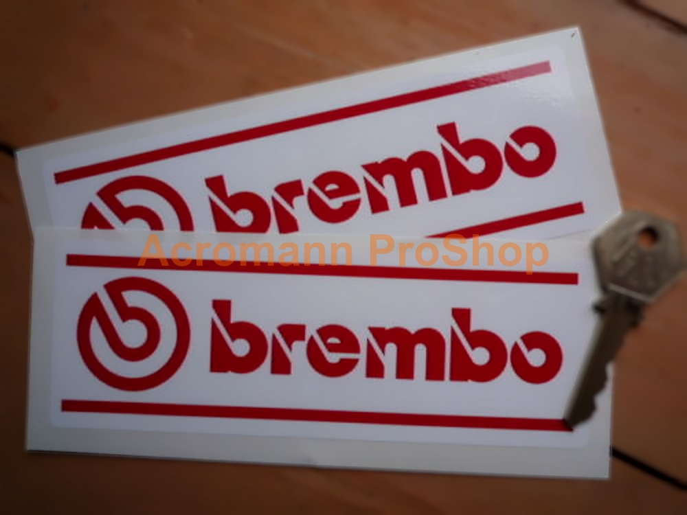 Brembo 6inch Decal (Style#5) x 2 pcs