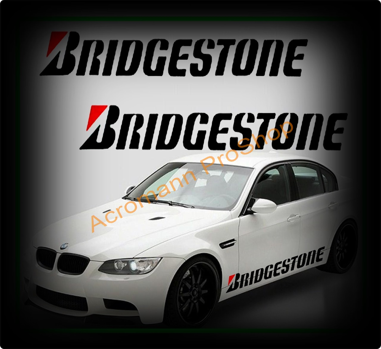 BRIDGESTONE Large Side Door Decal x 1 pair (LHS & RHS)