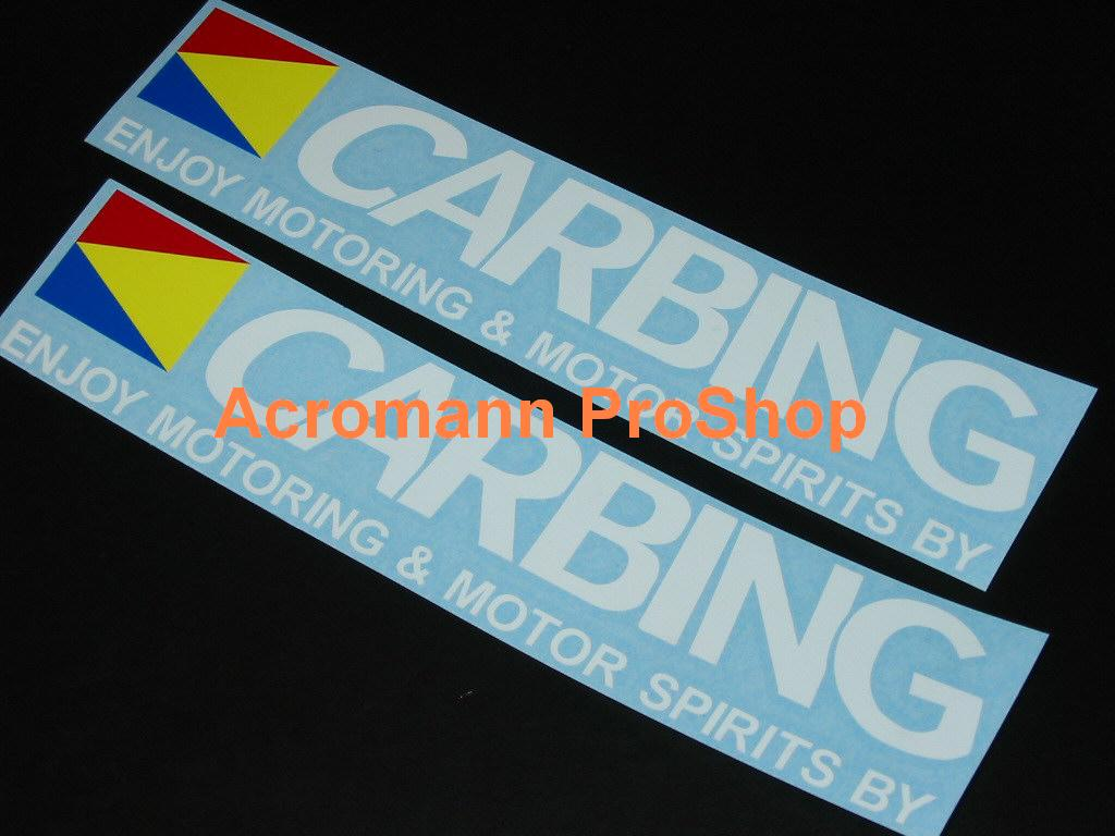 CARBING 6inch Decal (Style#1) x 2 pcs