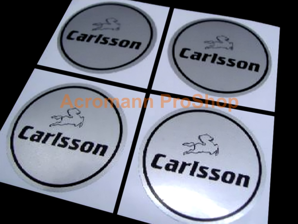 Carlsson 2.2inch Wheel Cap Decal (Style#1) x 4 pcs