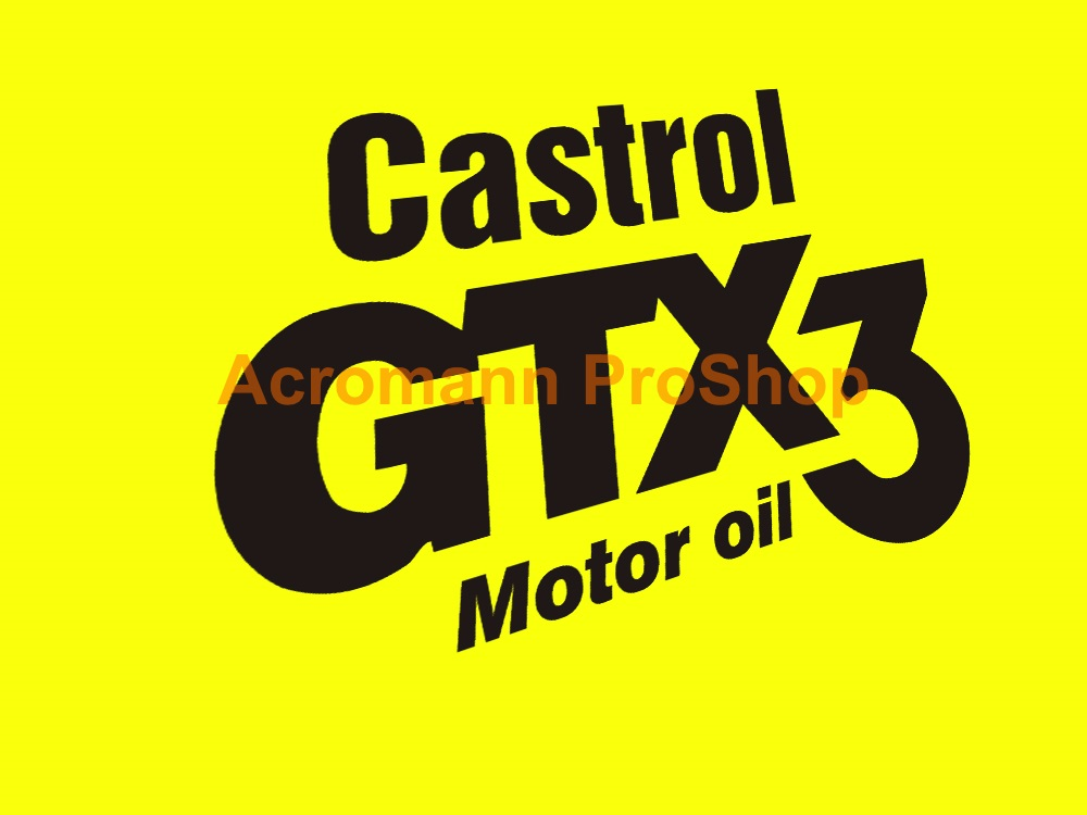 Castrol GTX3 Motor oil 6inch Decal x 2 pcs