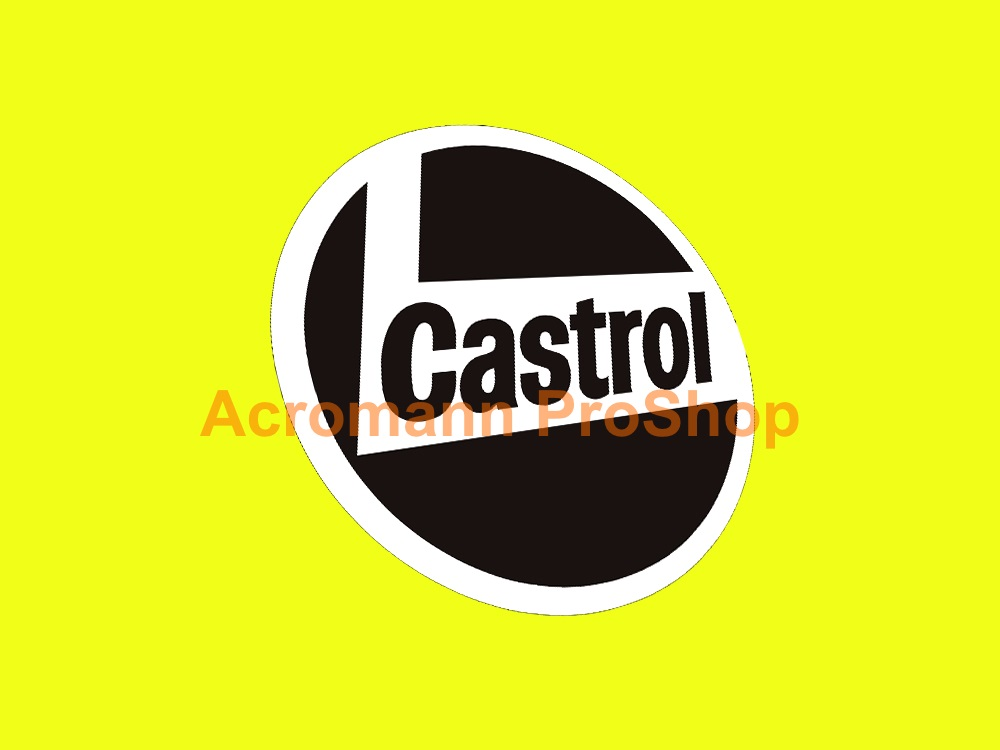 Castrol Round Logo 3inch Decal (Style#2) x 2 pcs