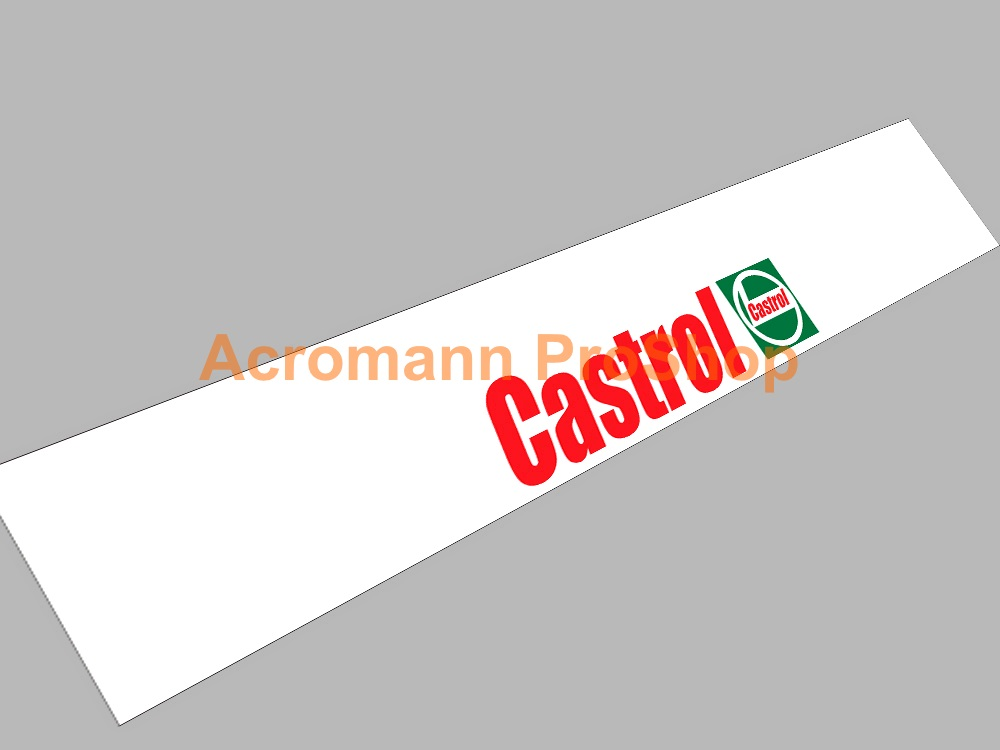 Castrol Windshield Decal (Style#3)