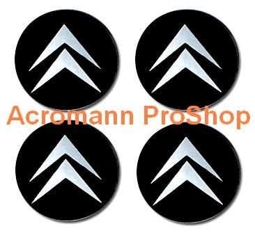 Citroen 2.2inch Wheel Cap Decal (Style#1) x 4 pcs