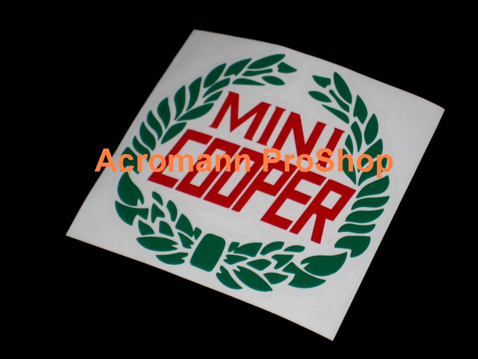 Classic Mini Cooper Laurel Wreath 3.5inch Decal (Style#2) x 2pcs