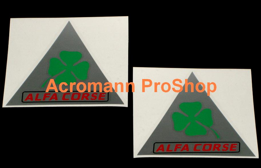 ALFA CORSE Clover Leaf 4inch Triangle Decal (Style#1) x 1 pair