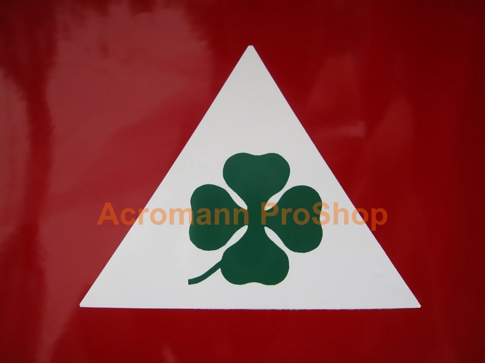 Clover Leaf 4inch Triangle Decal (Style#14) x 1 pair (LHS & RHS)