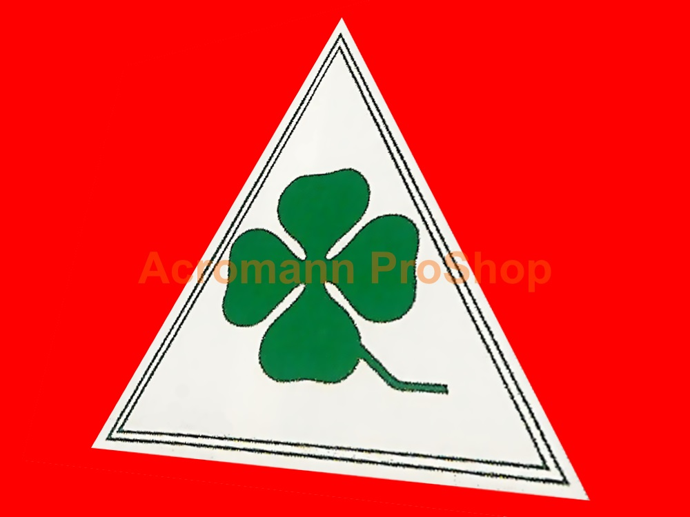 Clover Leaf 4inch Triangle Decal (Style#15) x 1 pair (LHS & RHS)