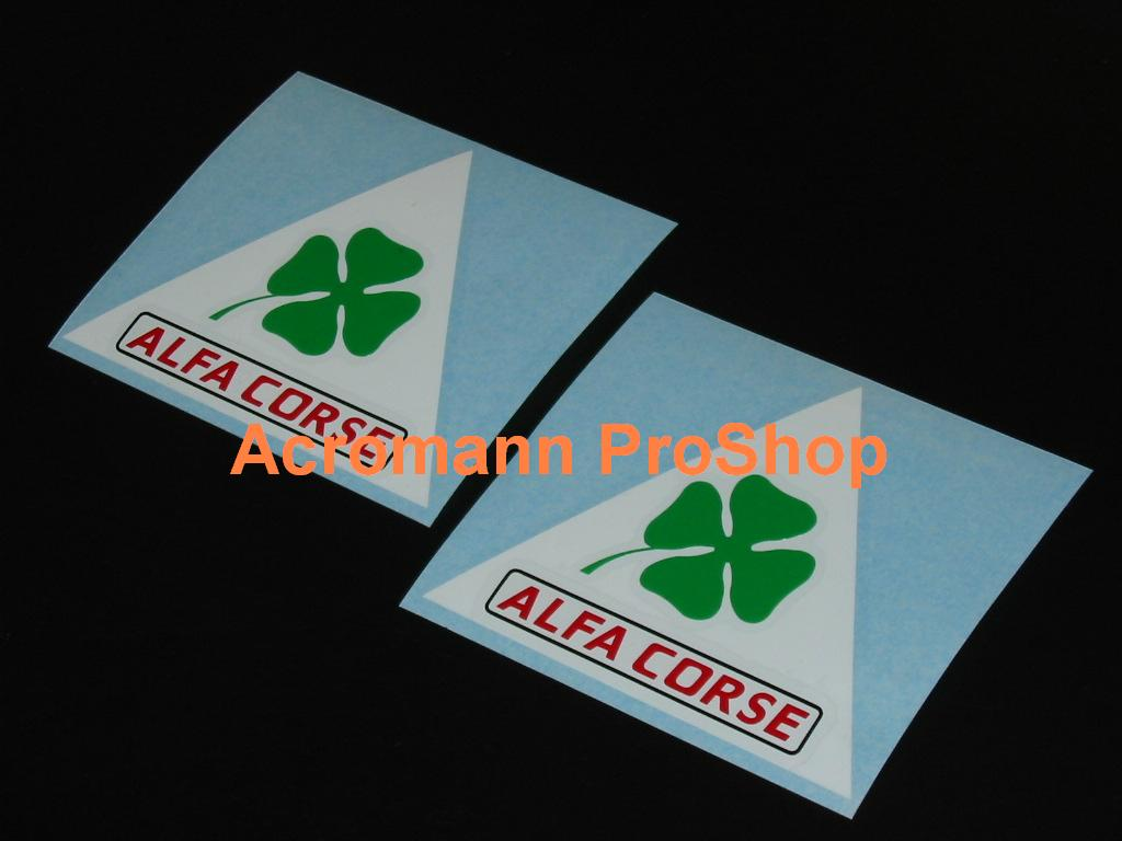 ALFA CORSE Clover Leaf 4inch Triangle Decal (Style#1) x 2 pcs