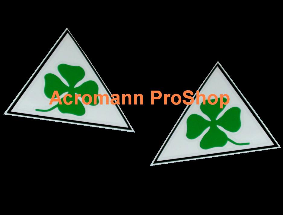 Clover Leaf 4inch Triangle Decal (Style#1) x 1 pair (LHS & RHS)