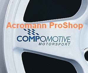 Compomotive 4inch Alloy Wheel Decal x 4 pcs