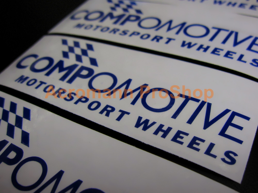 Compomotive Motorsport Wheels 4inch Alloy Decals Sticker x 4 pcs