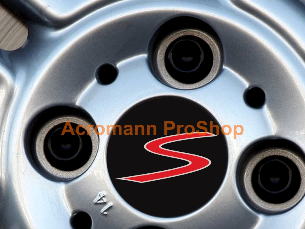 Mini Cooper S Printed 2.2inch Wheel Cap Decal x 4 pcs