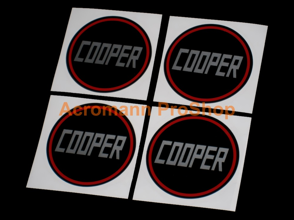 Mini Cooper COOPER 2inch Wheel Cap Decal x 4 pcs
