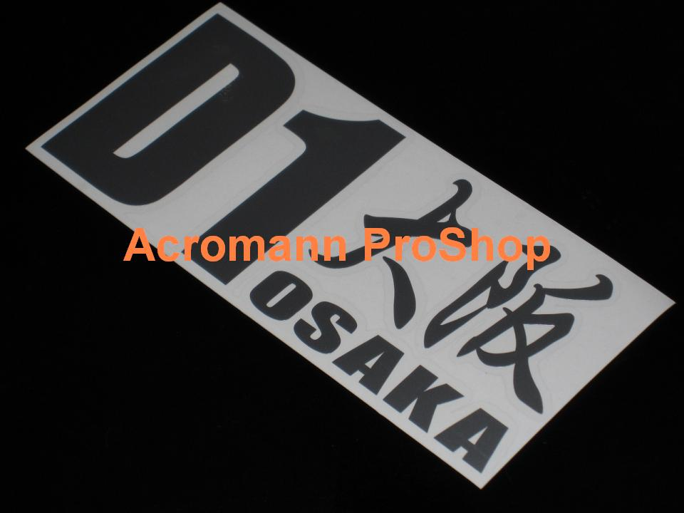 D1 Drift Osaka Kanji lettering 6inch Decal x 2 pcs