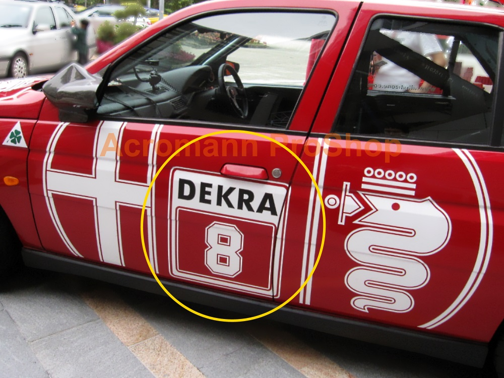 DEKRA Number Plate Decal (Style#2) x 2pcs