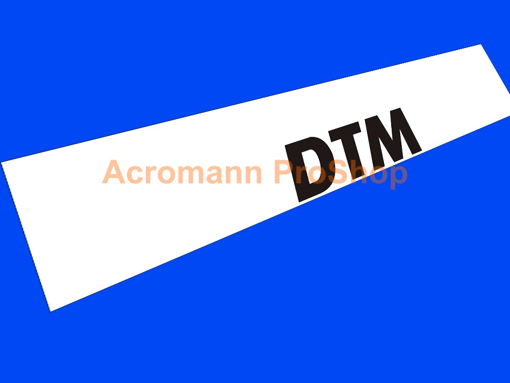 DTM Windshield Decal