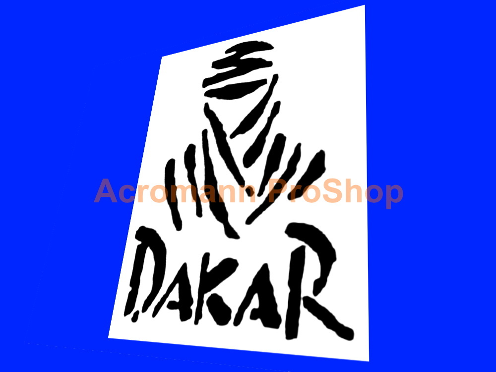 Dakar Rally 4inch Decals Sticker (Style#1) x 2 pcs